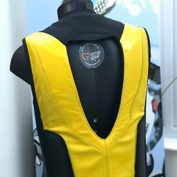 Track Airbag Vest Yellow